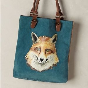 RARE Miss Albright Anthropologie fox purse